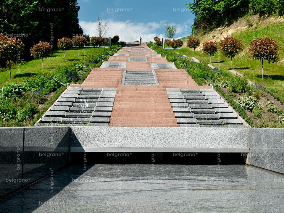 Privatgarten Süddeutschland | Wassertreppe